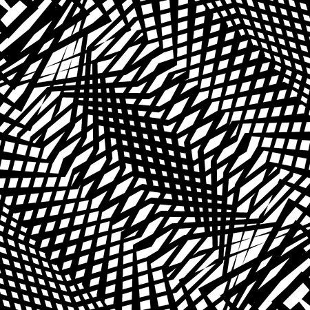 intersect: Monochrome texture, monochrome pattern with random shapes (lines). Abstract geometric illustration