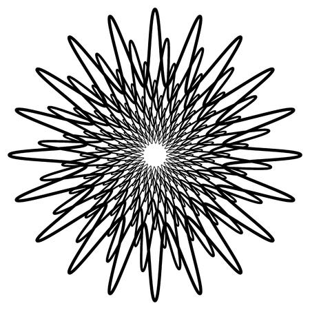 Geometric spirally element - Abstract geometric motif, design element