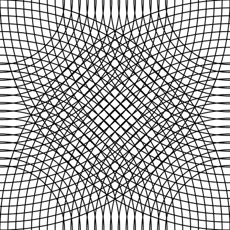 cellular: Cellular grid, mesh pattern with circles from center (Repeatable)