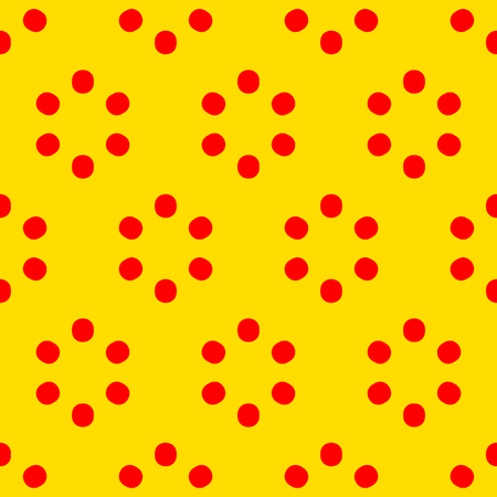 Repeatable polkadot pattern with structure of circles