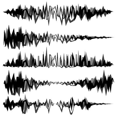Equalizer (EQ, Equalizer lines) in zig-zag, irregular style