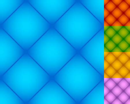 distinct: Set of repeatable square patterns in 5 distinct colors Illustration