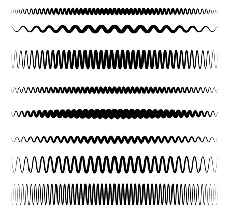 camber: Wavy, zigzag line set with different level of distortion
