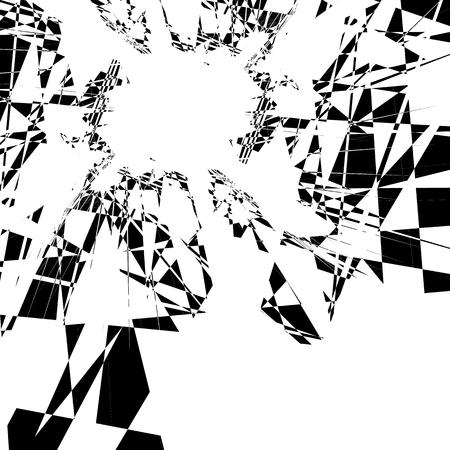 anomalous: Edgy, random artistic composition of geometric shapes