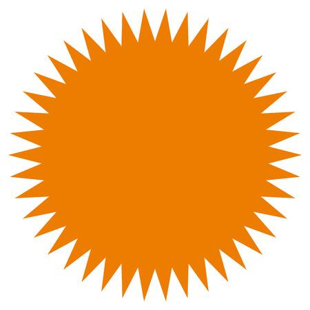 cockade: Starburst, sunburst shape. Flat price tag, price flash icon