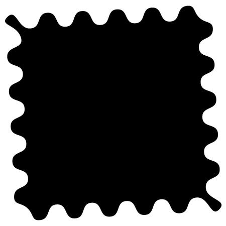inverse: Shape with wavy, zigzag edges to clip photos Illustration