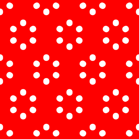 polkadot: Repeatable polkadot pattern with structure of circles