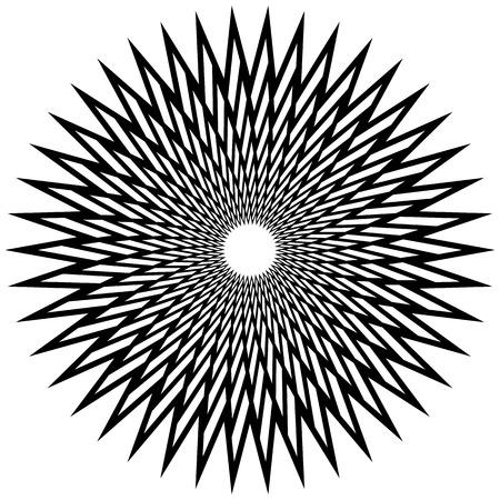 tense: Geometric spirally element - Abstract geometric motif, design element