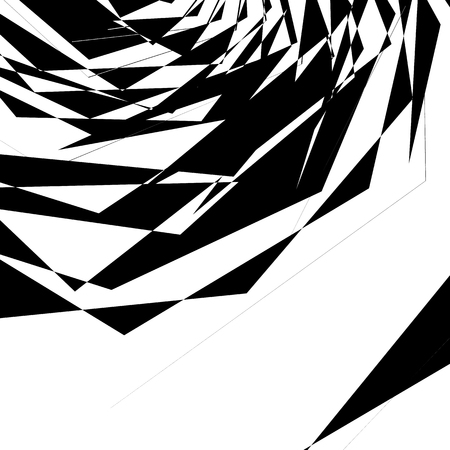 abstractionism: Geometric texture with random angular shapes. Monochrome art