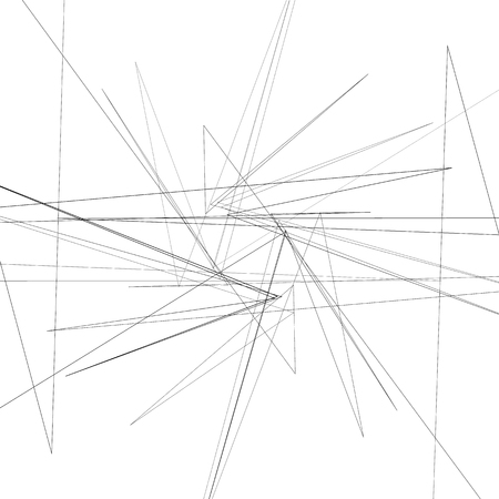 Abstract monochrome element with thin intersecting lines