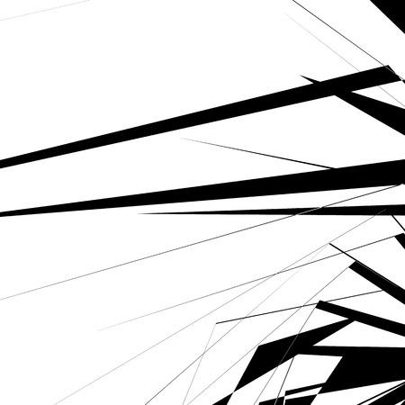 Texture géométrique avec des formes angulaires aléatoires. Art monochrome Vecteurs
