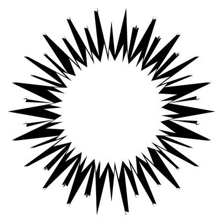 Asymmetric edgy circular shape(s) on white