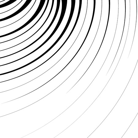 Abstract geometric illustration with radial swirling, spirally lines