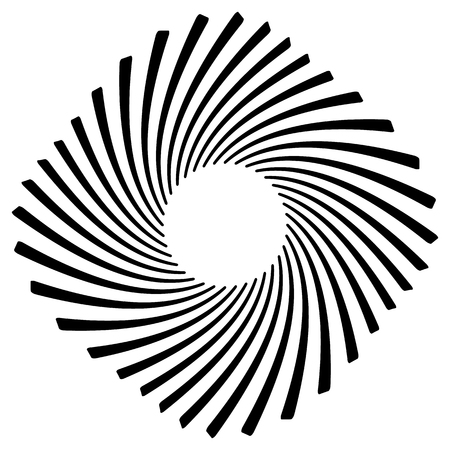 volute: Abstract geometric spiral, ripple element with circular, concentric lines. Abstract monochrome element Illustration