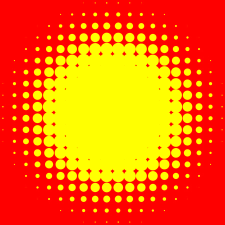 Popart, halftone pattern. Yellow and red, duotone backdrop Illustration