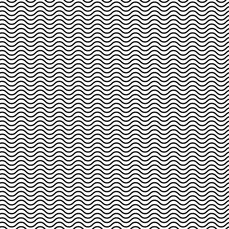 diagonal stripes: Wavy zigzag lines seamless pattern. Distorted lines texture.