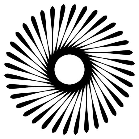 curl whirlpool: Abstract geometric spiral, ripple element with circular, concentric lines. Abstract monochrome element.