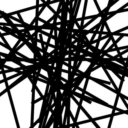 Les lignes chaotiques aléatoires abstraites motif géométrique / texture. Illustration d'art moderne et contemporain