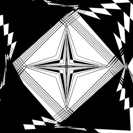 angular: Random monochrome glitchy, rough texture, pattern. Geometric chaotic illustration.