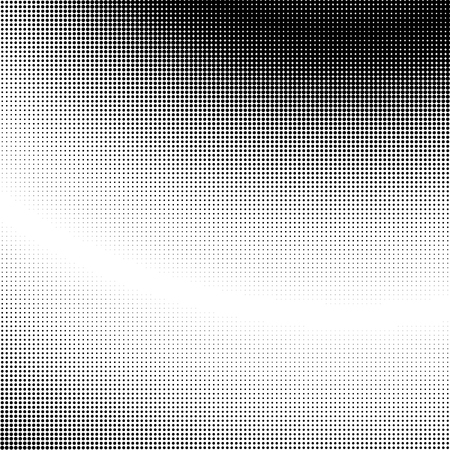 Halftone gradation / gradient pattern, abstract geometric pointillist texture.