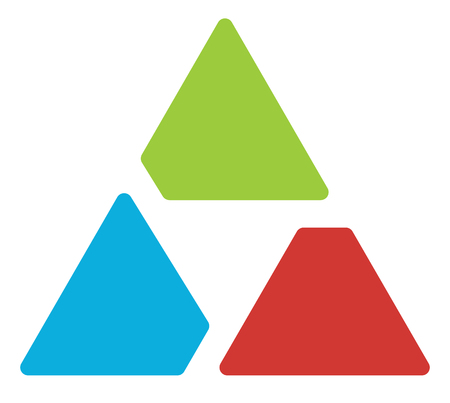 Triangle logo  symbol - Aperture like triangle shape