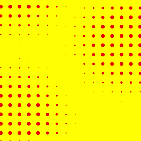 Popart, halftone pattern, background. Yellow and red, duotone backdrop Illustration
