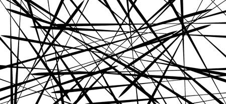 ランダムなカオス行抽象的な幾何学的パターンテクスチャします。モダン、コンテンポ ラリー アートのような図  イラスト・ベクター素材