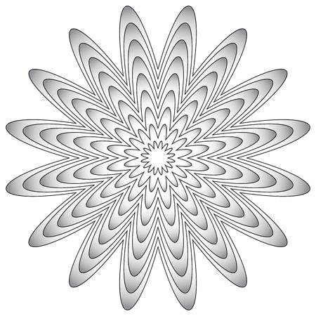 proportional: Radial geometric element. Radiating lines geometric art