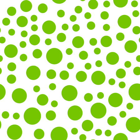 Seamlessly repeatable pattern with random green circles