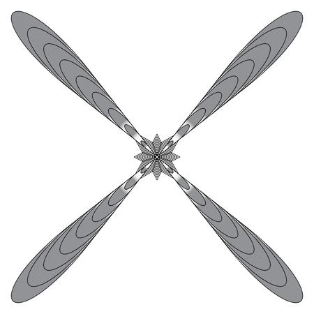 Radial geometric element. Radiating lines geometric art