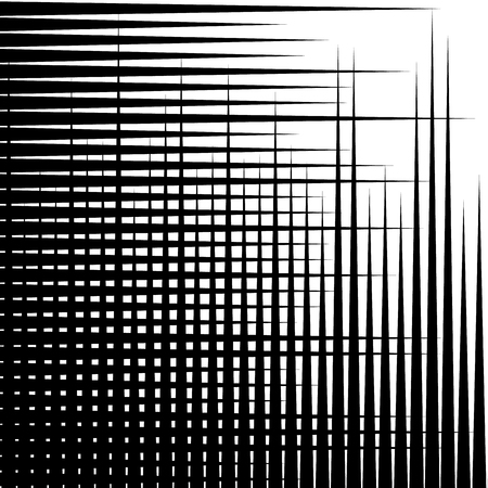 eccentric: Irregular grid, mesh pattern, abstract monochrome geometric texture