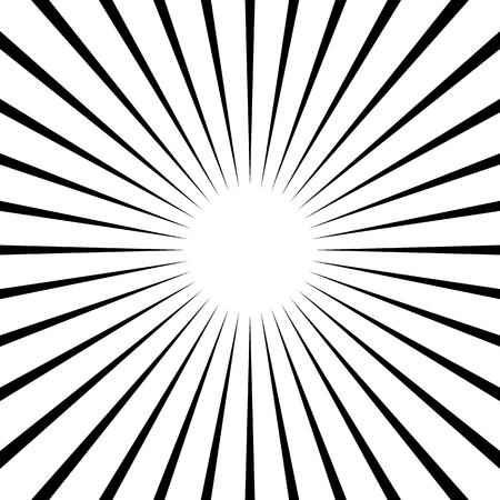 Radial lines abstract geometric element. Spokes, radiating stripes. Illustration