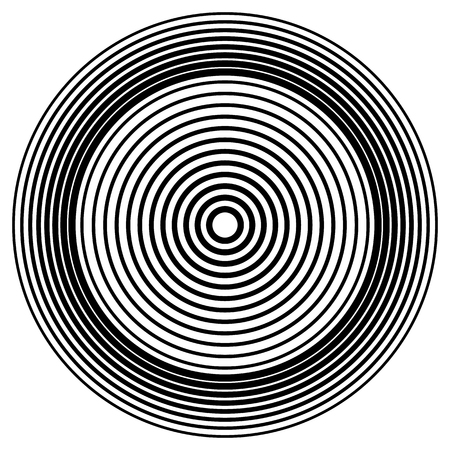 Concentric circles, concentric rings circular pattern.
