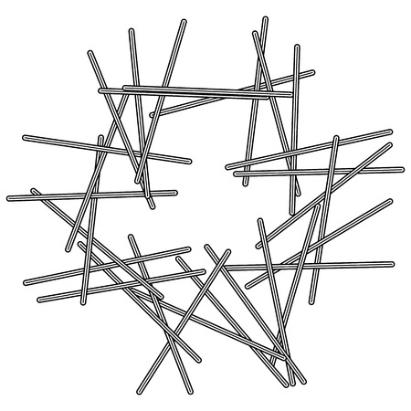 Random intersecting lines abstract geometric pattern. Artistic geometric illustration