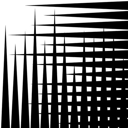 grille: Irregular grid, mesh pattern, abstract monochrome geometric texture. Illustration
