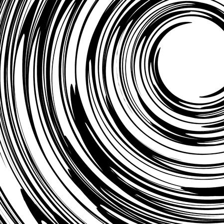Rotating spiral element. Abstract swirl, vortex shape