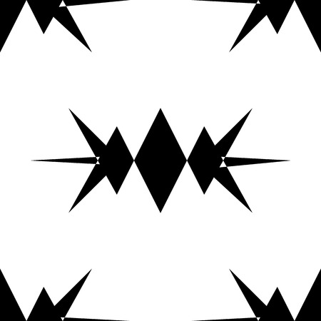 Repeatable pattern. Abstract monochrome geometric repeatable pattern