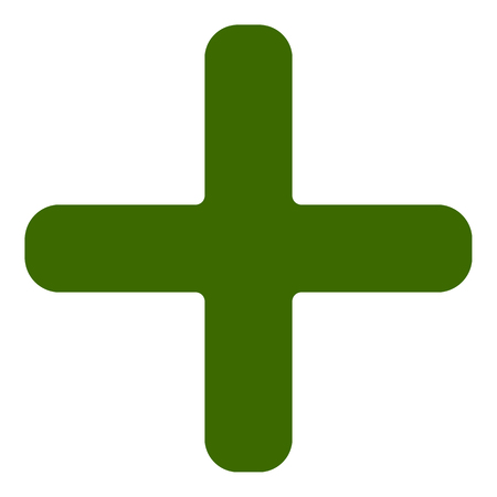 Plus, cross icon, symbol for healthcare, first aid concepts Illustration