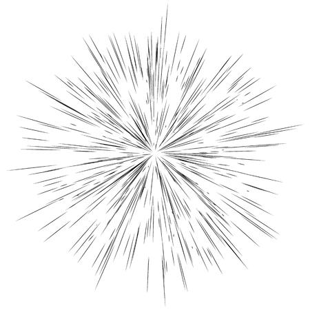 半径方向のライン、スター バースト、サンバーストの背景。フラッシュ、キラキラ効果