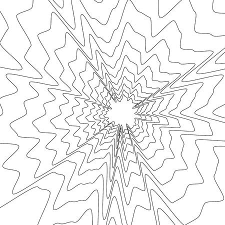 Concentric circular pattern. Random burst, radiating, radial element with distortion