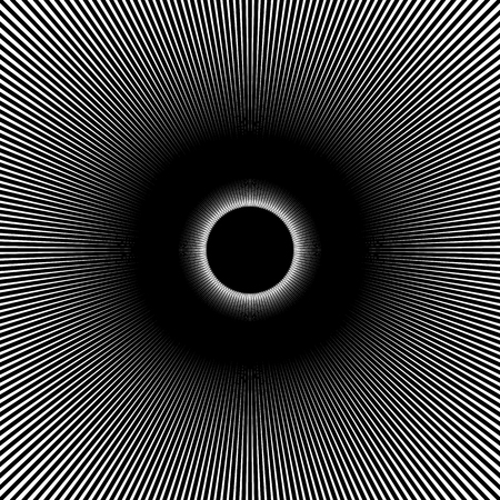 pledge: Radial, radiating lines abstract element. Circular pattern of rays, beams. Ripple effect