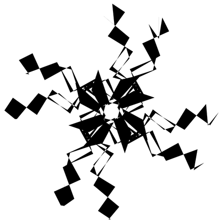spoke: Abstract black and white spiral. Radial, radiating lines with spiral distortion. Artistic non-figural illustration. Illustration