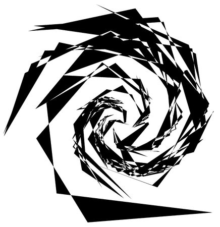 psychic: Abstract artistic illustration. Black and white geometric - textured element.