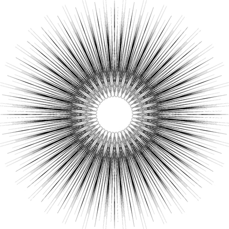 Geometric circular pattern. Abstract monochrome illustration series Illustration