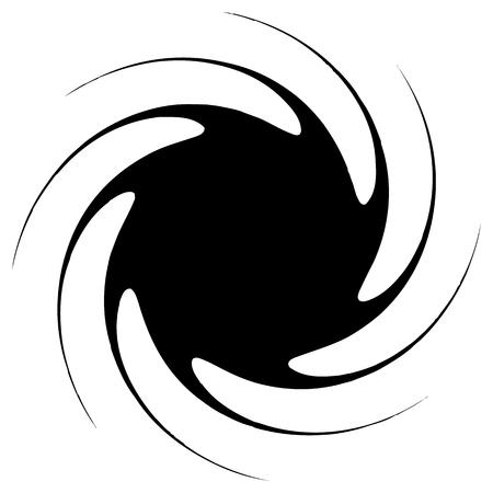 bloat: Contour of abstract spiral shape, element. Rotating abstract motif, mandala