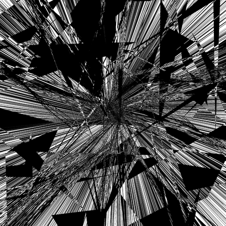 Geometric texture with edgy motif. Abstract shattered, rough pattern. Irregular asymmetric abstract art.
