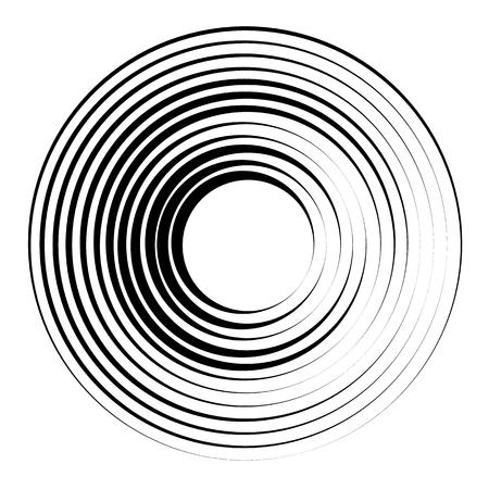 Concentric circles geometric element. Radial, radiating circular graphic. Stock Vector - 76077474