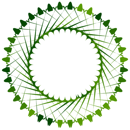 Abstract circle element in green for nature related themes