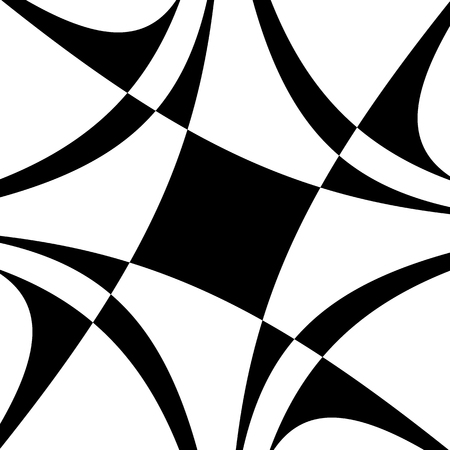 Abstract black and white spiral. Radial, radiating lines with spiral distortion. Artistic non-figural illustration. Illustration