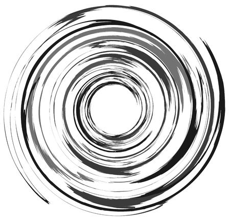 Abstract spiral element in irregular, random fashion. Geometric hypnotic vortex. Reklamní fotografie - 76077763